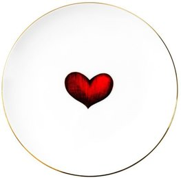 Red Love Heart - Plate