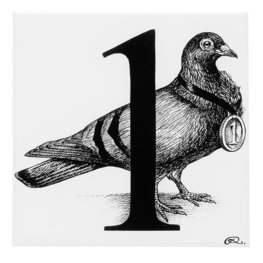 1 - Number One Prize Pigeon Tile
