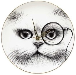 Cat Monocle - Tick Tock Supersize Clock