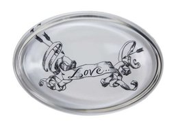 Love Scroll Oval - Paperweights