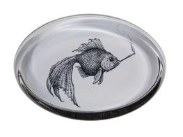 Smokey Fish Oval - Paperweights