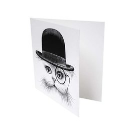 Cat In Hat - Card