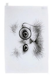 Cat Monocle - Tea Towel
