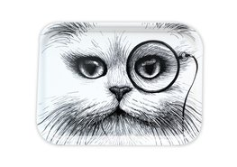 Cat Monocle White Small - Tray
