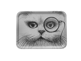 Grey Cat Monocle Large - Tray