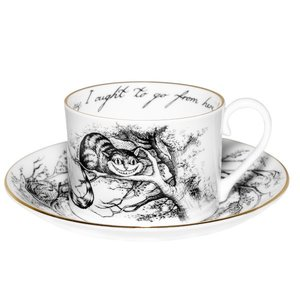 Alice in Wonderland Cheshire Cat Tea Cup and Saucer